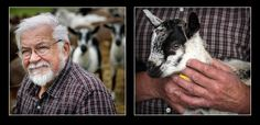 Farmer Vincent Maefsky, and one of the goats that supply his Poplar Hill Dairy Goat Farm. #taste50