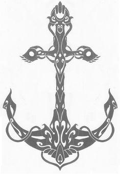 Tribal Anchor by Helletic-Hybrid.deviantart.com on @deviantART