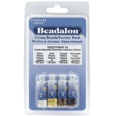 £8.34 Beadalon Crimp Bead Colour Variety Pack 600 Pieces. The one thing no jewellery maker could live without Beadalon crimps!