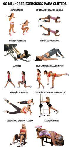 exercícios para glúteos na academia em todos aparelhos