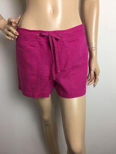Banana Republic Factory Linen Hot Pink Casual Shorts Women's Size 6 | eBay