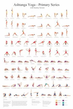 Ashtanga Yoga Primary Series with Sammy Seriani. This poster illustrates the postures of the primary series Full color poster shows perfect yoga Ashtanga Yoga Primary Series Poster Yoga Fitness, Fitness Workouts, Fitness 24, Physical Fitness, Fitness Sport, Fitness Motivation, Muscle Fitness, Health Fitness, Fitness Logo