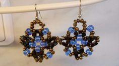 "How To Weave ""Ice In Bronze"" Beaded Earrings - DIY Crafts Tutorial - Gui..."