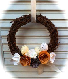 A Spring Wreath/Een voorjaarskrans (Stampin' Up! Spiral Flower Die)