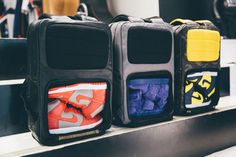 Shoe Compartment - For consumers that often carry around extra pairs of footwear…