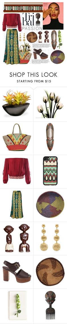 """""""Tribal passion"""" by bravo1755 ❤ liked on Polyvore featuring National Tree Company, Sensi Studio, NOVICA, Sans Souci, Casetify, WithChic, Marco Bicego, See by Chloé and Tommy Mitchell"""