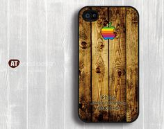 Wooden Apple iPhone Case. Ryan's cell phone case from college