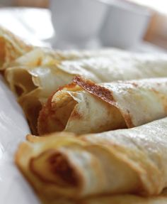 Elizabeth Maxon's crepes recipe. This is my favorite crepe recipe so far. Did some research: crepe batter is typically good for two days and frozen crepes are good for up to about 2 months.