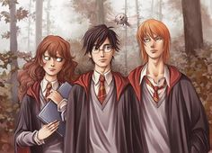 HP Fan Art - The Trio - harry-potter fan art