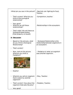 A Detailed Lesson Plan in Science in Grade IV I. enumerate the five ecological relationshi… 4a's Lesson Plan, Lesson Plan Format, Lesson Plan Examples, Science Lesson Plans, Science Lessons, Geography Worksheets, Social Studies Worksheets, Teacher Worksheets, School Worksheets