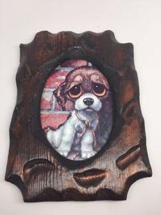 Retro-GIG-Pity-Puppy-FRAMED-Print-Big-Eyes-Dog-Keane-Style