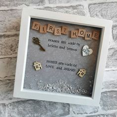 This hand-made scrabble art frame would make the perfect addition to any home. It also makes a beautiful house -warming gift that can be appreciated all year round. Various coloured backgrounds available to match any decor. Your own small message can be added to make a truly