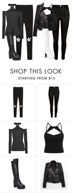 """Kiss Costume"" by perrieanddaniellestyle ❤ liked on Polyvore featuring River Island, Funtasma, women's clothing, women's fashion, women, female, woman, misses and juniors"