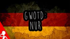 "Today's #German word of the day is: nur | Nur is used very often in German! Nicht nur manchmal!  Not only sometimes!  Wie oft benutzt ihr ""nur""? How often do you use ""nur""?  Leave a like and/or share the video if you enjoy the German words of the day!"