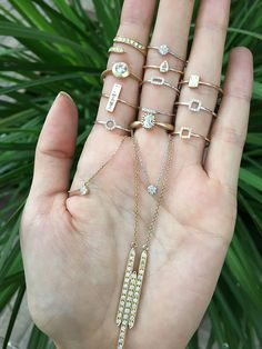 Tiny diamond jewels at Eliza Page   #ElizaPage #Jewelry #Rings #Necklaces #diamonds