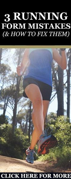 The Three Running Form Mistakes Runners Make & How to avoid them Without Further ado, here are three of the most common running form mistakes and how to fix them for good. http://www.runnersblueprint.com/running-form-mistakes-runners-make-how-to-avoid-them/ #Running #Form #Mistakes