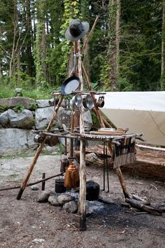 Now that is a camp kitchen ....