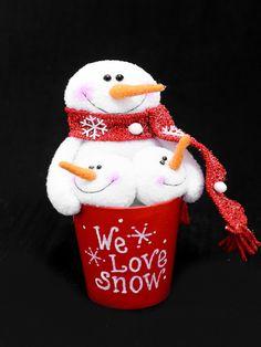 Snowy Friends In Pot - 10391039002553