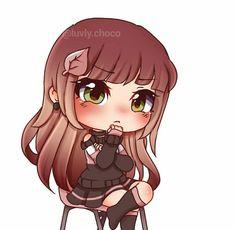 Cute Anime Chibi, Cute Anime Pics, Kawaii Anime, Kawaii Girl, Anime Girl Drawings, Kawaii Drawings, Cute Drawings, Cute Backgrounds, Anime Life