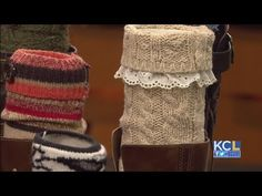 How to Make Boot Cuffs from a Re-purposed Sweater - YouTube