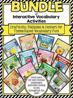 Try these fun vocabulary activities for kids...themes for all year round!