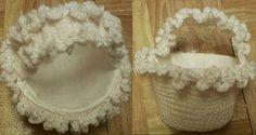 Delicate Crochet Basket
