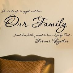 Our Family Founded On Faith Joined In Love by VinylLettering, $15.99