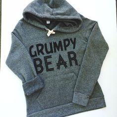 Grumpy Bear Fleece Hooded Sweatshirt