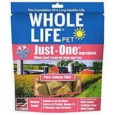 Whole Life Pet Single Ingredient USA Freeze Dried Salmon Value Pack for Dogs and Cats, 8 oz >>> Wonderful having you for having seen our photo. (This is our affiliate link) Sweet Potato Dog Chews, Chicken Heart, Chicken Treats, Beef Liver, Salmon Fillets, Freeze Drying, Cat Treats, Dog Snacks, Whole Food Recipes