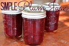 Simple Plum Jam | TheMarathonMom.com
