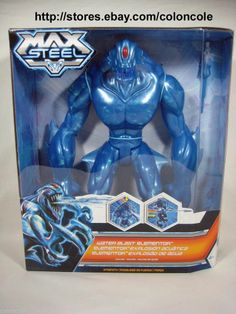 "max steel action figure | Max Steel 2013 Water Blast Blue Elementor 11 5"" Action Figure Missile ..."