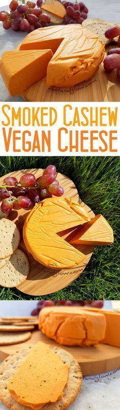 Smoked Cashew Vegan Cheese Recipe - Quick, easy and healthy plant-based cheese via @nestandglow