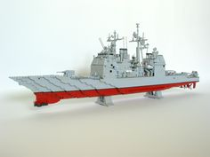 Lego US Navy Ticonderoga class guided missile cruiser with VLS.
