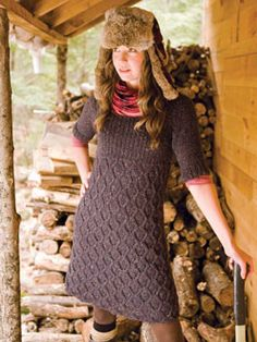 tweed knit dress pattern