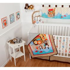 Sumersault - Noah's Ark 10-Piece Nursery-in-a-Bag Crib Bedding Set