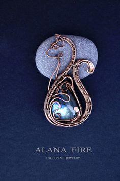 Alana Fire. Украшения из меди и камней.