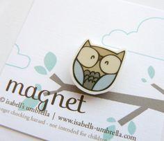 Blue Owl Magnet. $2.75, via Etsy.