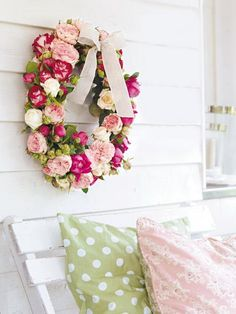 Spring wreath with roses