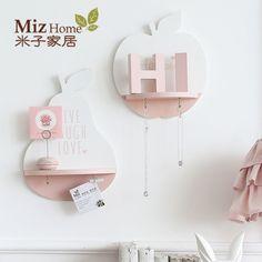 Miz casa 1 unidades de color rosa de madera creativa sostenedor del estante de almacenamiento estante de la pared colgante maceta home dormitorio decoración ann010015