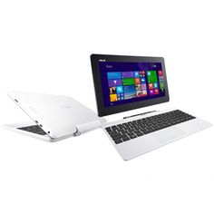 """ASUS Transformer Book T100TAF-DK025B White New 2-in-1 ultraportable laptop with 10"""" tablet Intel QuadCore Z3735, RAM 1GB, HDD 32GB SSD + 500GB, WiFi, VGA Intel HD Graphics, Screen 10"""" Touch, Windows 8.1-Bing + Office Student 2013"""