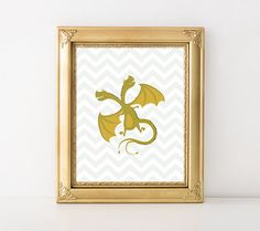 Dragon Print 8x10 Instant Download Nursery by MossAndTwigPrints