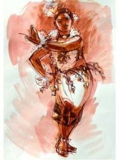 that pacific love: An elegant portrait of a Tongan Tauolunga. A traditional role attributed by a Tongan maiden, performing moves of majestic & graceful nature. Tongan Culture, Polynesian Culture, Polynesian Dance, Dance Paintings, Hawaiian Art, Island Girl, Office Art, South Pacific, Art Inspo