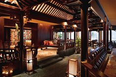 One of the most beautiful restaurants in Singapore, Cherry Garden offers an eclectic menu of Cantonese cuisine, presented with artistic modern flair. Description from mandarinoriental.com. I searched for this on bing.com/images