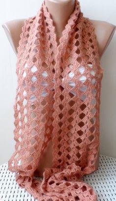 Thread Crochet, Filet Crochet, Crochet Scarves, Crochet Shawl, Crochet Lace, Crochet Stitches, Crochet Patterns, Crocheted Scarf, Crochet Clothes