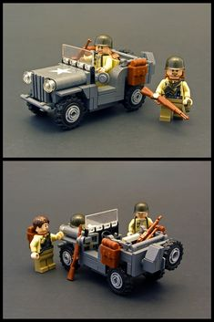 "https://flic.kr/p/8JbLpi | 5-wide Willys Jeep | I realized after making this that David Luna (Ranger of Awesomeness) and I had the <a href=""http://www.flickr.com/photos/therangerofawesomeness/4827324510"">same idea</a> for the tires. I made this to go with my <a href=""http://www.flickr.com/photos/legohaulic/5072277075""> 5-wide German Schwimmwagen</a>."