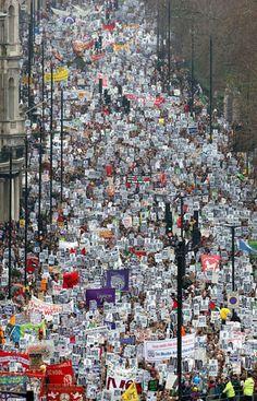 Demonstration against Iraq War, London