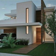 Architecture Exterior 36 Amazing Modern Home Design Exterior Ideas Minimalist House Design, Minimalist Home, Modern House Design, Home Design, Facade Design, Exterior Design, Town Country Haus, House Front Design, House Elevation