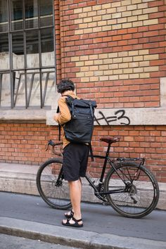 Black Fox - 20L waxed cotton rolltop backpack