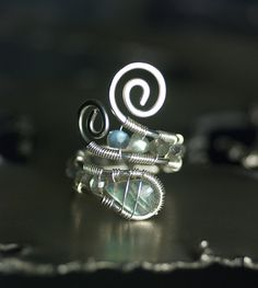 Gemstone Nickel-Free Argentium Silver Wirework Ring - 'AA'… | Flickr