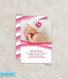Birth Announcement photo birth announcement modern di swankypress, $30.00